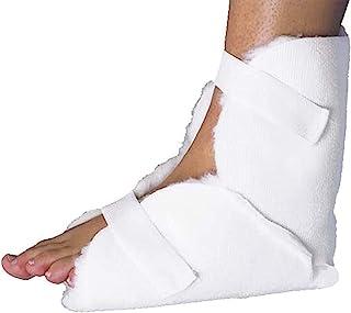 Fersenschoner universal - 1 Paar - mit Klettband - Fersenpolster gegen Wundliegen, Druckschmerzen und Wundbelastung - ANTI-DEKUBITUS Fersenschutz - Waschbare Polster für die Füße Fuß Ferse Schoner