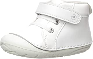 Stride Rite baby boys Soft Motion Frankie Athletic Sneaker, White, 3 Infant US