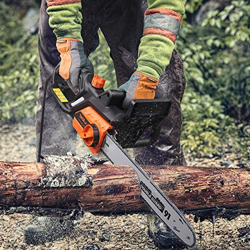 TACKLIFE Electric Chainsaw, 15 Amp Corded Chainsaw, 18-Inch Chain Bar, 13m/s Chain Speed, Tool-Free Chain Tensioning, Auto Oiling, Copper Motor, Lightweight