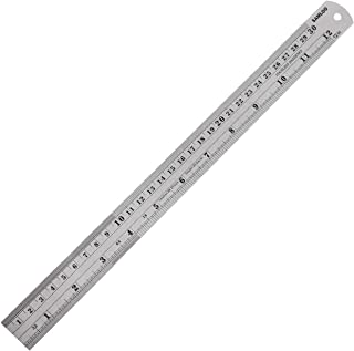 12 inch (30CM) Stainless Steel Ruler Metal Rule with Conversion Table Straight Edge Linear Measurement Ruler Metric Steel ...