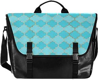Bolso de lona para hombre y mujer, diseño de rayas, color azul