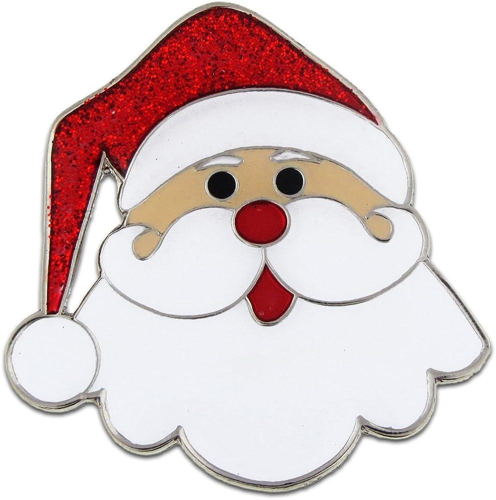 PinMart New popularity Santa Face Christmas Holiday P X-Mas Lapel Enamel El Paso Mall Brooch