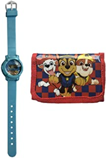 Paw Patrol - Orologio digitale e portafoglio con licenza ufficiale per bambini, set regalo
