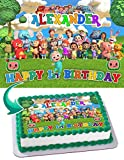 Cakecery Cocomelon Edible Cake Image Topper Personalized Birthday Cake Banner 1/4 Sheet