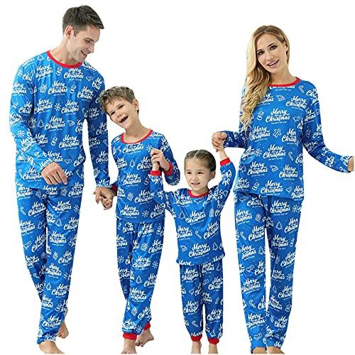 Ensemble De Pyjama De NoëL Assorti Classique à Manche VêTements De Nuit De NoëL Pour Enfants Adultes Ensemble De Pyjama De NoëL Pyjama De NoëL D'Hiver Mignon Et Amusant