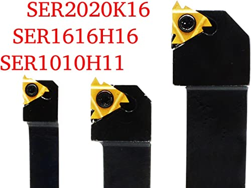 2021 3PCS sale CNC Lathe Carbide Indexable Threading Turning Tool Holder SER1616H16 + SER2020K16 + SER1010H11 With 1PCS 11ER A60 BP010 + 2PCS outlet sale 16ER AG60 BP010 Indexable Carbide Turning Insert blade + 3 Wrench online sale