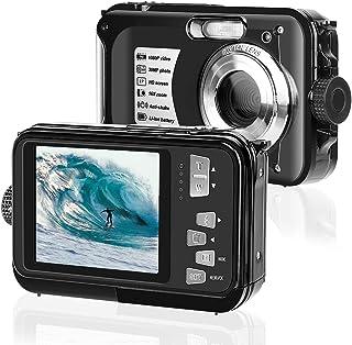 Unterwasserkamera 2.7K Full HD 30MP wasserdichte Kamera 10 Fuß Unterwasserkamera Anti Shake Zoom Digitalkamera (Black)