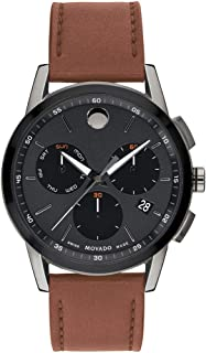 Men's Museum Sport Chronograph Watch with a Printed Index Dial, Brown/Grey/Black (0607290)