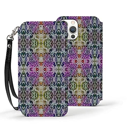 Funda para iPhone 12,Funda Tipo Cartera para iPhone 12 con Tarjetero,Azulejos con diseño,Funda Protectora Interior de TPU a Prueba de Golpes para iPhone 12 de 6.1 Pulgadas