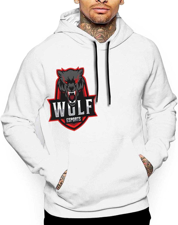 Wolf Squad Men's Hoodie Max 90% OFF Sweatshirt Max 71% OFF Printing Pullover Full Hood
