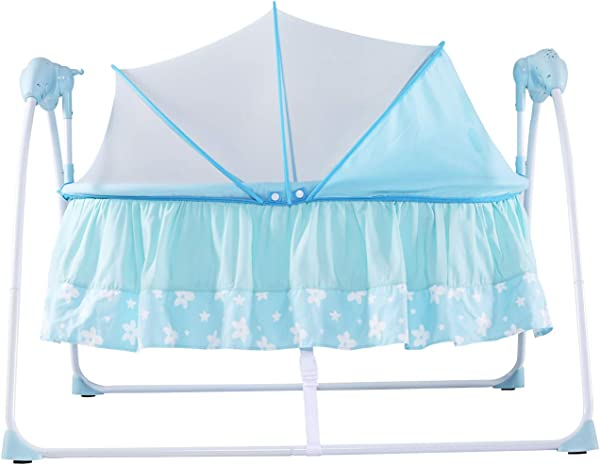 KINBOR BABY Baby Portable Bassinet Cradle Auto Rocking Chair Newborns Bassinets Sleep Bed Rocking Music Remoter Control Sleeping Basket Bed Newborns Sway Baby Swing