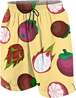 Vector Flower Seamless Pattern Men's Swim Trunks Summer Teen Beach Pants Quick Dry Board Shorts Bathing Suit