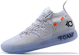 ETERNAL KNIGHT Mens KD 11 Low Training Shoes Basketball Shoes (White Orange, Numeric_9_Point_5)