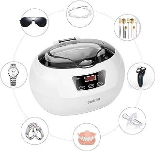 Cadrim 超音波洗浄機 600ml大容量 タイマー設定可能 デジタルLED時間表示 入れ歯/メガネ/時計などの日用小物超音波洗浄器
