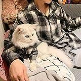 ZLALF Padres-Mascotas Camisa A Cuadros Ropa Disfraces para Perros Pequeños Gatos Y Mamas -Pet Dueño Y Mascotas Trajes Familiares para Ropa De Perros Y Gatos,3XL