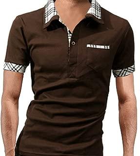 [ Smaids x Smile (スマイズ スマイル) ] 半袖 ポロシャツ おしゃれ 重ね着 柄 ゴルフ 襟 トップス スポーツ メンズ