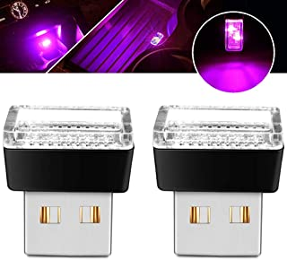 BukNikis USB Simple Atmosphere Lights USB Car Interior Accessories Lighting - Universal (Pink Magenta, 2 pcs)