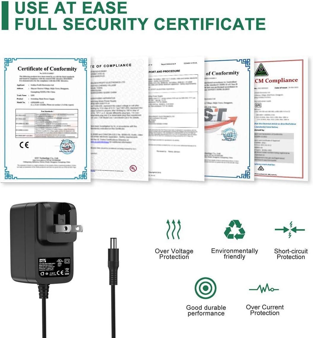 FITE ON UL Listed AC/DC Adapter for HP ProCurve 1810G-8 (J9449A) 1810G8 Gigabit Ethernet L1970-80002 Scanjet Invent L2694-80008 SA015 1LA SA0151LA ScanJet G3010 L1985AB1H l1985ab1h Scanner Charger