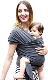 Maydolly Baby Slings Free Hands Baby Wrap, Perfect Baby Shower Gift (Black Grey)