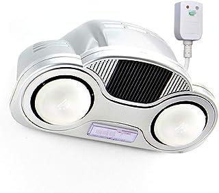 GXFC Calentador de baño de Montaje en Pared, Radiador de Bombilla de 2 Infrarrojos con Calentador de Ventilador, Calentador de Ducha, Cable de alimentación de 2,5 m de Largo