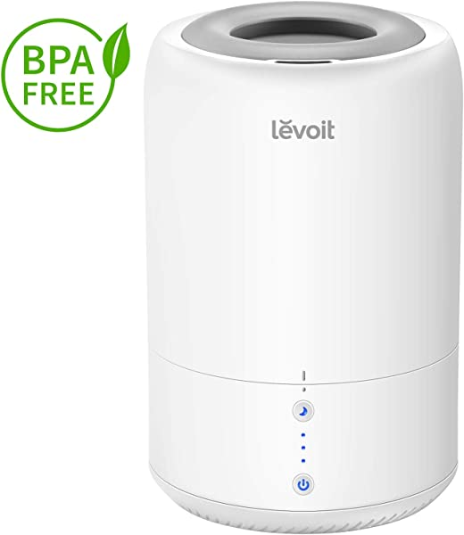 LEVOIT Humidifiers For Bedroom Top Fill Cool Mist Cold Air Ultrasonic Humidifier Essential Oil Diffuser For Home Babies Room Smart Sleep Mode Long Lasting Auto Shut Off 1 8L 0 48Gal
