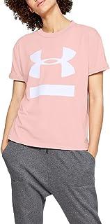 Camiseta Under Armour Big Logo Feminina Rosa