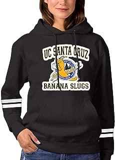 RHRhuaren Fashion UC San-ta Cruz Ba-Nana Slugs Hoodie for Women Cotton Hooded Sweatshirts with Pockets Hoody