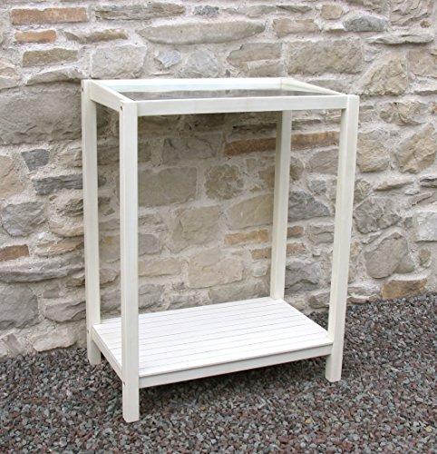 GRASEKAMP Qualität seit 1972 - Pflanztische in Weiß, Größe 75x45x97 cm