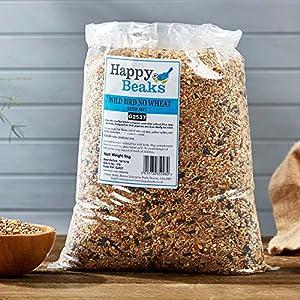 Happy Beaks No Wheat Small Wild Bird Seed Mix High Energy Garden Bird Grade Food