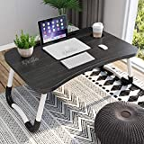 LARGE, STABLE, PORTABLE FOLDING TABLE: The folding size of our laptop desk is about 60cm(L) * 39.5cm(W) * 27cm(H) such that it fits upto 11-17inch laptops and also a space for mouse. Built-in iPad stand groove for holding ipad or kindle. Our table co...