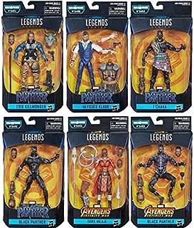 Black Panther Marvel Legends Wave 2 Set of 6 Figures (M'Baku BAF)