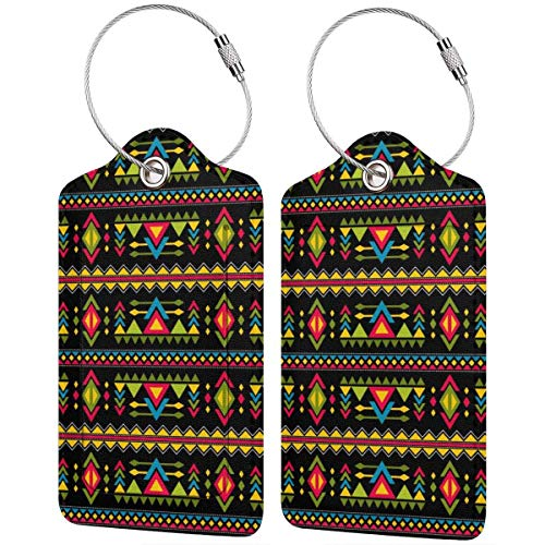 Ink Watercolour Bohemian Mandala Green Abstract Boho Art Luggage Tag Label Travel Bag Label With Privacy Cover Luggage Tag Leather Personalized Suitcase Tag Travel Accessories