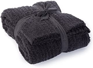 Barefoot Dreams CozyChic Ribbed Throw Blanket - Carbon