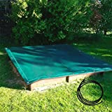 DONET Sandkastenabdeckung, PE Gewebe, 1,50 x 1,50 m luftdurchlässig, grün