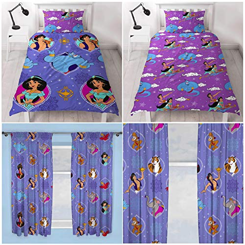 Disney Aladdin Sunset Single Duvet Cover Set + Matching Curtains 72' Drop