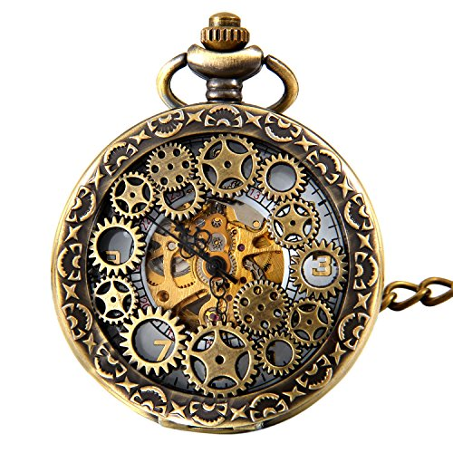 √ Gender:Unisex Men & Women, - Movement: Hand Wind Mechanical, -Type: Pendant Pocket Watch √ HAND WIND MECHANICAL MOVEMENT - Daily Manual Winding and Adjustment and No Need to Use Battery; Easy Setting, Twisting the Top Button on the Spin, Tightening...