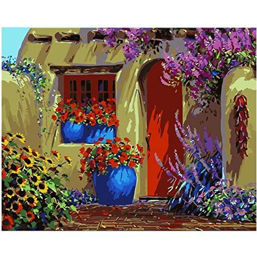 Thfff Salontafel van hout met digitale kleur van Te By Nummers, moderne muurkunst, canvas, geschenk voor Kerstmis, decoratie, huis Con Cornice 40x50cm