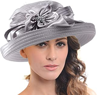 FORBUSITE Church Kentucky Derby Dress Hats for Women SD710