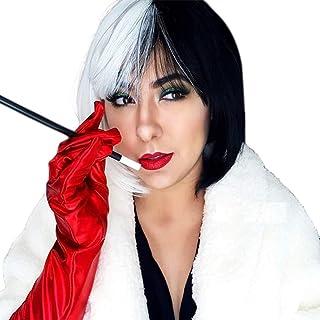 Wig CK942 Evil Madame Cruella De Vil 101 Dalmations Girls Book Week Costume