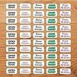 Personalisierte Namensetiketten für Kleidung kleben