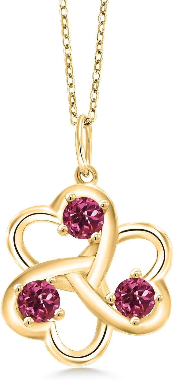 Gem Milwaukee Mall Stone King 0.75 Gifts Ct Round Pla 18K Pink Tourmaline Yellow Gold