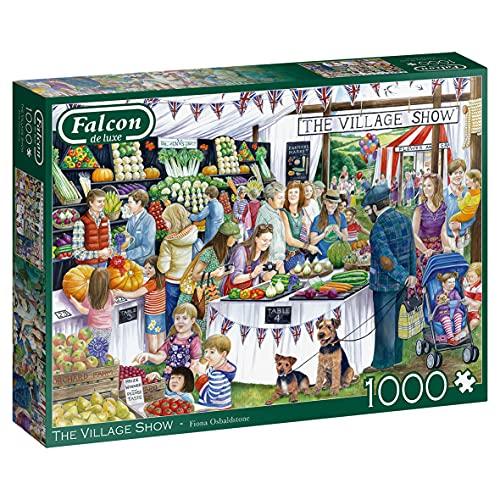 Jumbo 11302 The Village Show-1000 Teile Puzzlespiel, Mehrfarben