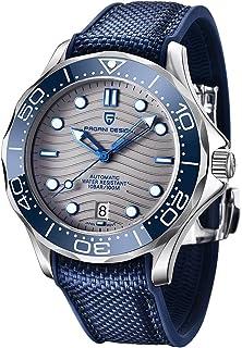 ساعت مچی غواصی اتوماتیک مردانه Pagani Design Seamaster Homage فولاد ضد زنگ کامل ، قاب سرامیکی ، آینه یاقوت کبود ، ساعت مچی مکانیکی ضد آب 100 میلی متر