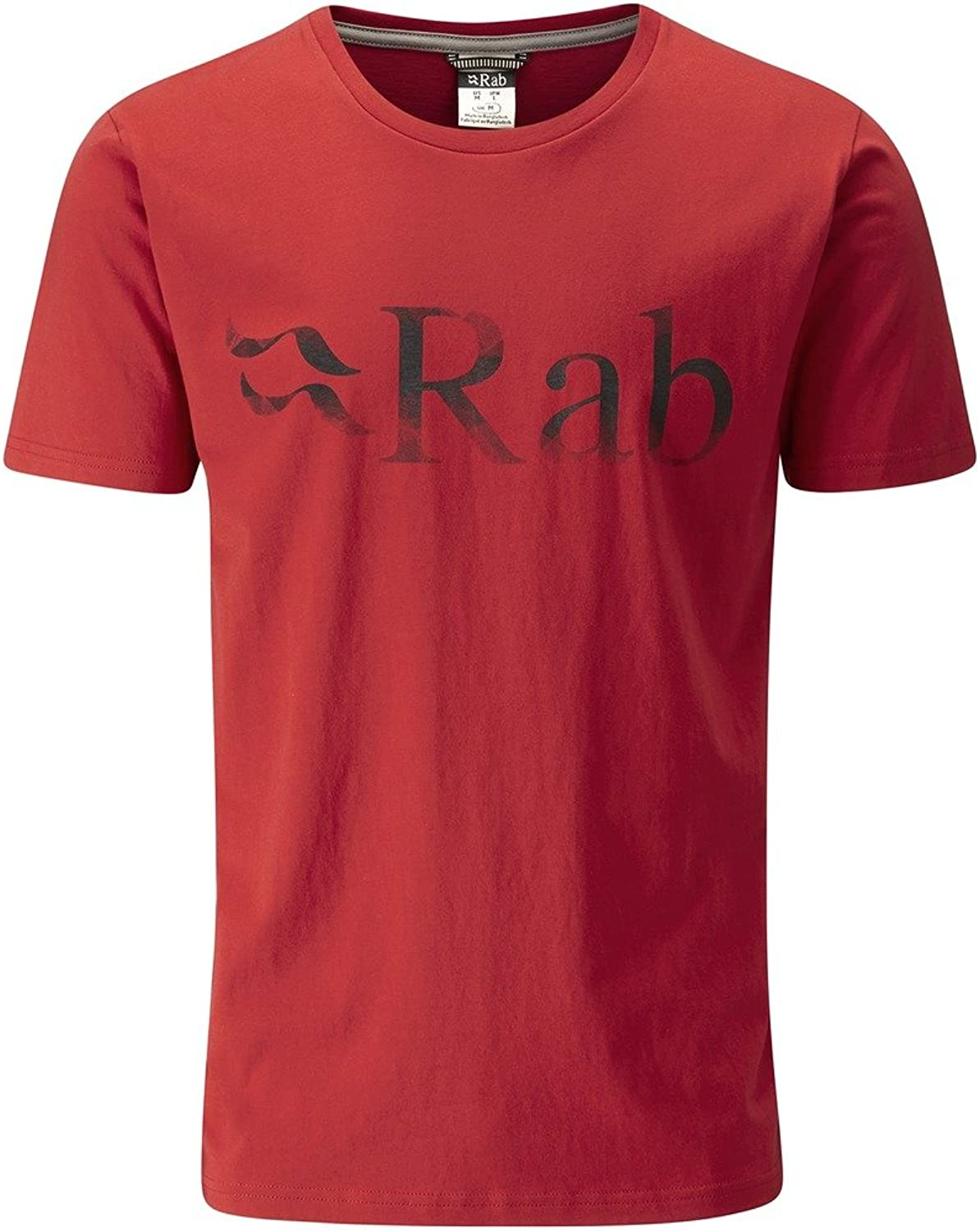 RAB MENS STANCE TEE - LOGO AUTUMN RED (MEDIUM)