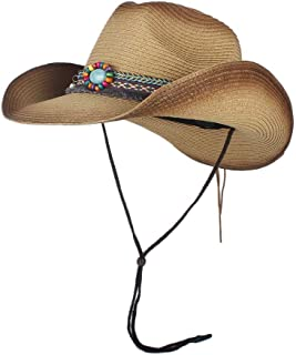 Sun Hat for men and women Natural Straw Cowboy Hat For Women Men Handmade Weave Cowboy Hats For Lady Tassel Summer Western Sombrero Hombre Lifeguard Hats Panama Hat