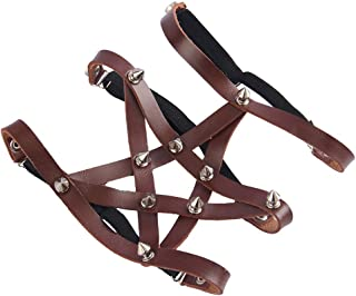 kesoto Gothic Leg Ring Bat Wings Leg Garter Belt For Women Brown