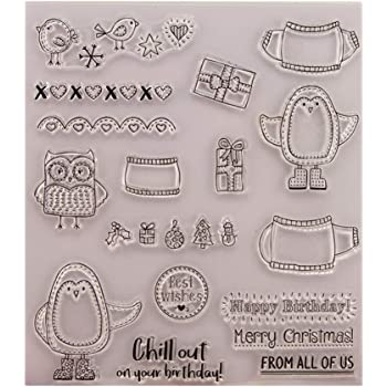 KANGneei Clear Stamp Fairy Transparent Silicone Clear Rubber Stamp Diary Scrapbooking DIY