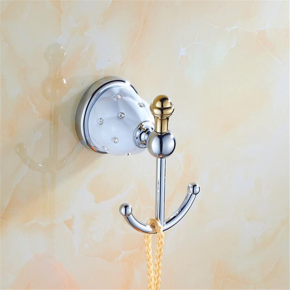 GH8 Luxury Brass Ceramic Crystal Holder Bathroom Award Very popular for Ring Towel