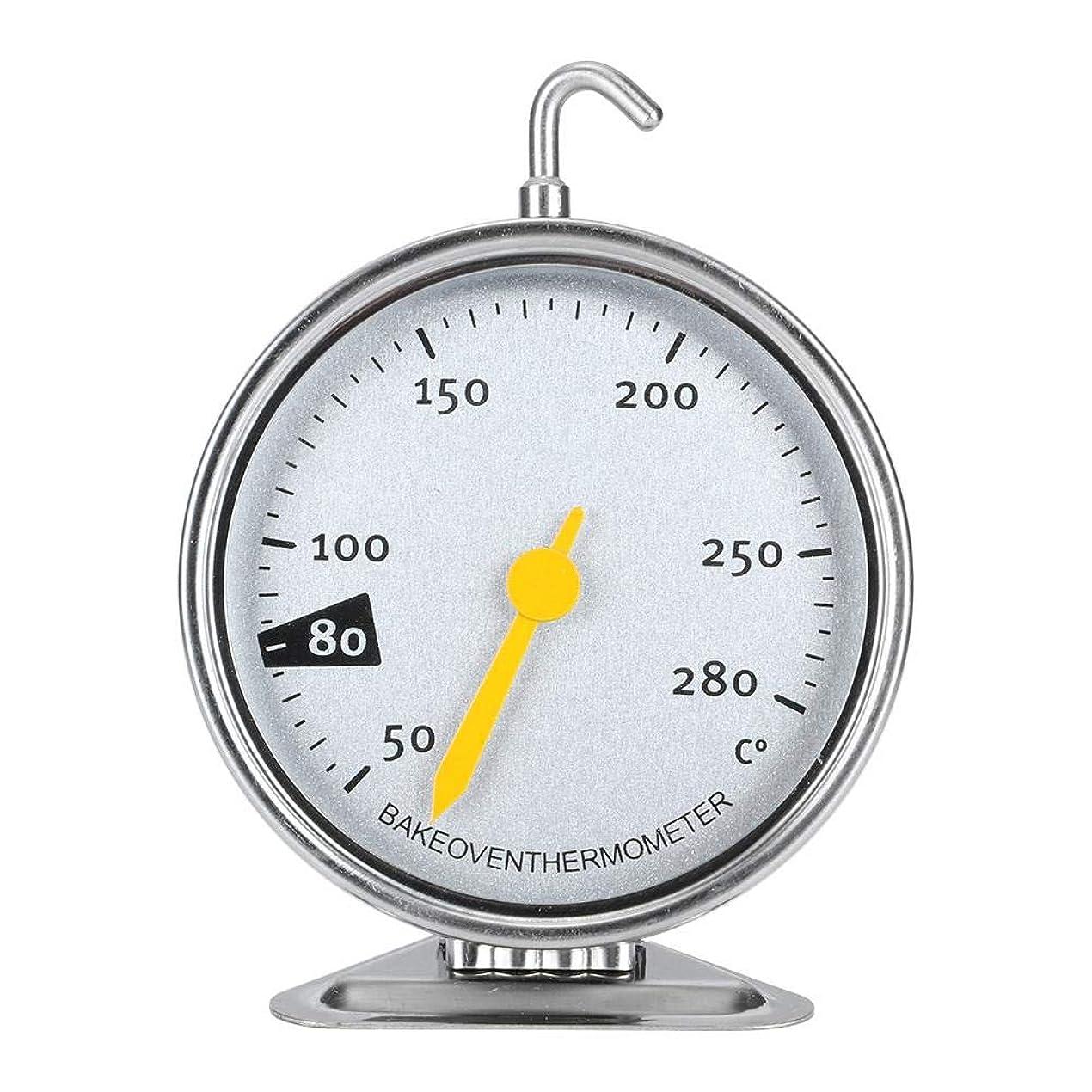 ユーモア異常カウントYIUS オーブングリル温度計ラージダイヤルオーブン温度計フック付きキッチン調理器具50?280℃ステンレス鋼BBQベーキング用