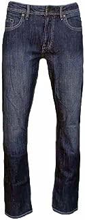 David Bitton Men's Driven-X Basic Denim Straight Fit Stretch Jean (34x34, Medium Rinse)